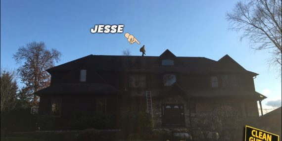 Jesse, The Owner, On The Job! Nobody Beats 'Clean Gutter Service'!